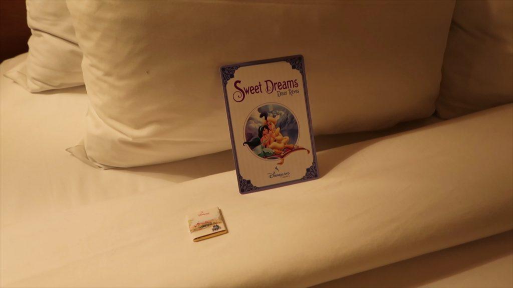 turn down service regular disneyland hotel room Paris