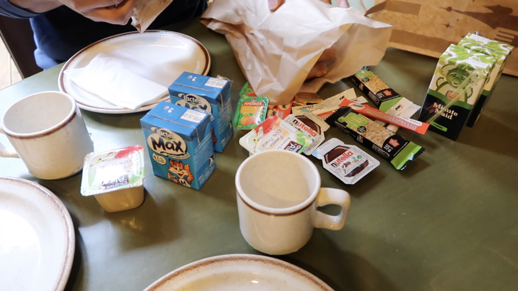 The content of the Breakfast Basket of Davy Crockett Ranch
