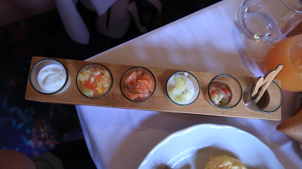 Cold side dish at auberge de cendrillon breakfast